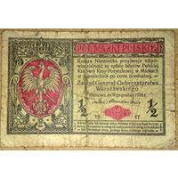 1/2 марки 1916г General