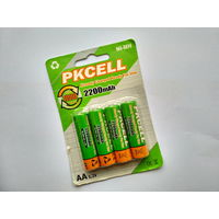 Аккумуляторные батареи -Pkcell- AA 2200 mAh