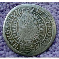 Австрия. 15 крейцеров 1674 год. Леопольд (губатый).