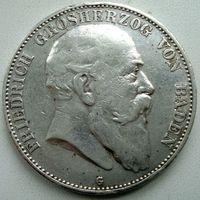 Германия. Баден. 5 марок 1907 г.