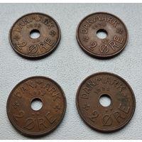 Дания 2 эре, 1938 6-8-28.41.42.49
