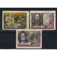 СССР 1957-9 Писатели нашей Родины #1884,2028,2201