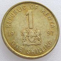 Кения, 1 шиллинг 1997 года, Даниэль Тороитич арап Мои - президент Кении в 1978-2002, KM# 29