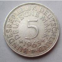 ФРГ. 5 марок 1963 D, Серебро