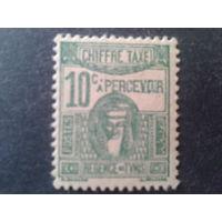Тунис 1945 колония Франции доплатная марка