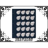 Лист Синий, для монет в капсулах D= 31мм, Коллекционер КоллекционерЪ в альбом для капсул