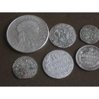Кучка старопольских серебряных монет
