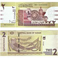 Судан 2 фунта 2011 год ПРЕСС из пачки UNC