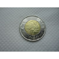 Канада - 2 доллара 2015 - на полях Фландрии ( монета из рола )