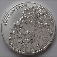 """Чад 2018 серебро (1 oz) """"African Lion"""" (сертификат)"""