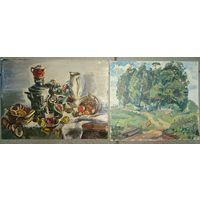 Юзвук В. Пейзаж и натюрморт. 19х17, 23х17. Холст, картон, масло.