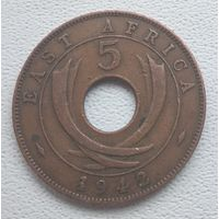 Британская Восточная Африка 5 центов, 1942 6-6-11