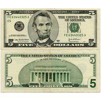 США. 5 долларов (образца 2003 года, 2003A, P517b)