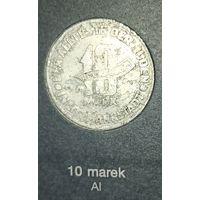 Распродажа! 10 марок 1943 г., гетто в Лодзи AL, тип b