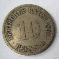 Германия. 10 пфеннигов 1896 F.  2-107