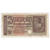 20 марок, Германия, Немецкая оккупация. Нечастая!