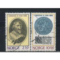 Норвегия 1988 400 лет коронации Кристиана IV Риксдалер Полная #1001-2