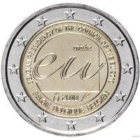 2 евро 2010 Бельгия Председательство Бельгии в Европейском Союзе UNC из ролла