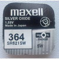 Батарейка серебряно-цинковая Maxell. 364. SR621SW. SR60. AG1. LR621.