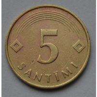 Латвия, 5 сантимов 1992 г.