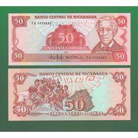 Банкнота Никарагуа 50 кордоб 1985 UNC ПРЕСС