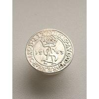 Три гроша 1563 года (монета в штемпельном блеске). Редкая разновидность. RR