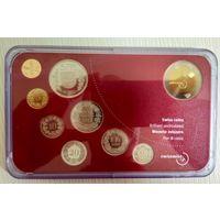 Распродажа! Швейцария банковский набор 2003 в оригинальном буклете + жетон. Все монеты с 1 рубля!!