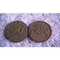 Литва 1997 год 50 центов. распродажа
