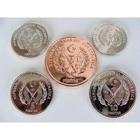 Западная Сахара. Набор из 5-ти монет 1-2-5-10-25 песет 2018 год UNC