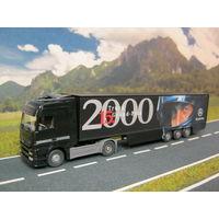 Модель грузового автомобиля Mercedes-Benz Actros (4). Масштаб HO-1:87.