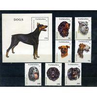 Танзания 1993г. собаки. 7м. 1 блок