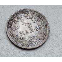 "Германия 1/2 марки, 1916 ""A"" - Берлин 7-10-38"