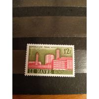 1959 Франция архитектура чистая клей MNH** (4-5)
