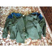 Бушлаты офицерские армейские военные  ВС РБ (2 шт, зимние) + китель в подарок (р-р 48-50, рост 4)