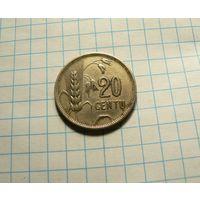 Литва 20 центов 1925