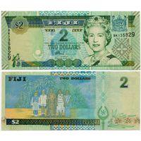 Фиджи. 2 доллара (образца 2002 года, P104, UNC)
