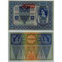 Австрия. 1000 крон (образца 1902 года, выпуск 1919, P61, II AUFLAGE, aUNC)