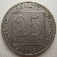 Франция 25 сантимов 1903 г. (d)