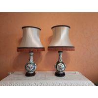Немецкие расписные настольные лампы
