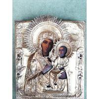 Икона Смоленская Пресвятая Богородица. Оклад серебро 84