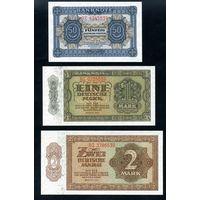 ГДР. Полный комплект, 9 банкнот 0,5-1000 Марок 1948 года. P8-P16, UNC