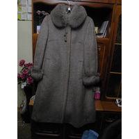 Пальто зимнее женское, шерсть ламы