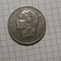 Франция 5 франков 1933 никель