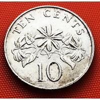117-20 Сингапур, 10 центов 1986 г.