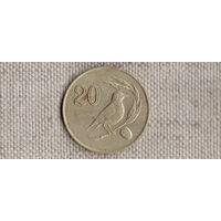 Кипр 20 центов 1985/фауна/птица/(NS)