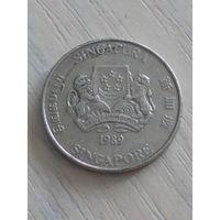 Сингапур 20 центов 1989г.