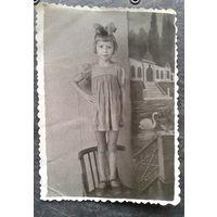 Фото девочки. 1950-е. 8х11 см.