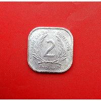 95-30 Восточные Карибы, 2 цента 1999 г.