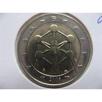 Бельгия 2 евро 2006г. Конструкция Атомиум в Брюсселе. (юбилейная) UNC!