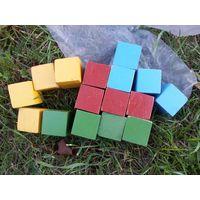 Деревянные кубики СССР 16 штук